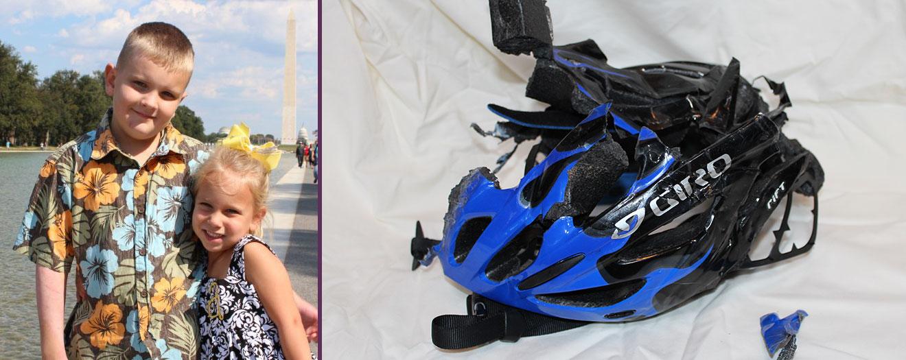Ian's Helmet - Bike Safe IM