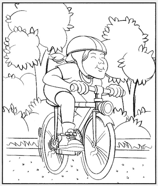 Bike Safe IM Coloring Page