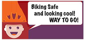 BikeSafe IM - looking cool in your helmet!